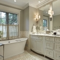 Master bath with marble counter