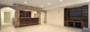 Basement with bar